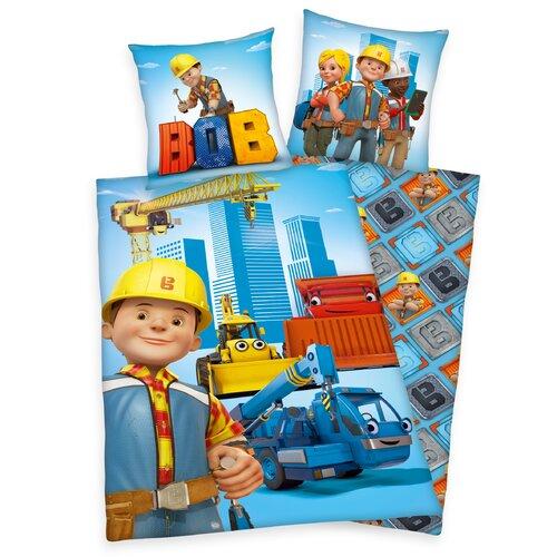Renforcé-Kinderbettwäsche Bob der Baumeister | Kinderzimmer > Textilien für Kinder > Kinderbettwäsche | Blue | Baumwolle | Herding Heimtextil