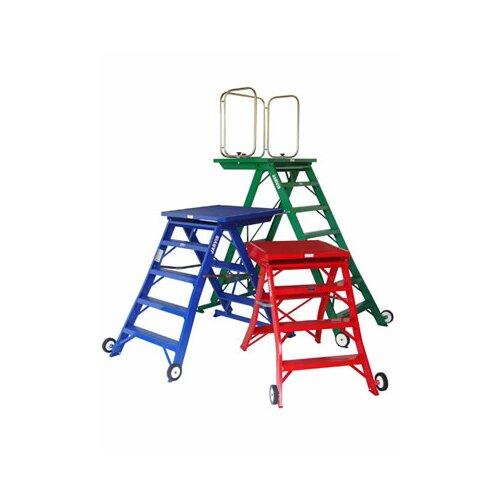 6 ft aluminum model 14 podium step ladder with 225 lb load capacity ebay. Black Bedroom Furniture Sets. Home Design Ideas