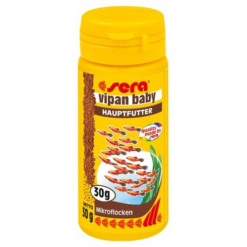 Sera vipan baby fish food 50ml 00730 for Baby fish food
