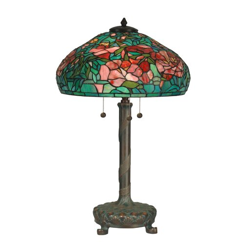 dale tiffany 27 ree light table lamp wi art glass shade in. Black Bedroom Furniture Sets. Home Design Ideas