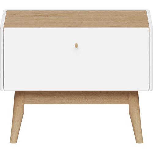 Nachttisch Monteo | Schlafzimmer > Nachttische | Whitebrownnatural | Abs - Holzwerkstoff | SCHÖNER WOHNEN-Kollektion