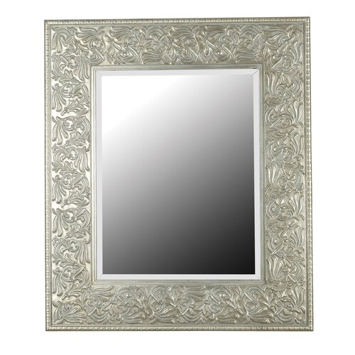 Kenroy Home Lafayette Wall Mirror in Antique Silver