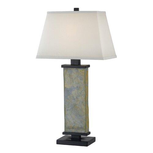 Kenroy Home Hanover One Light Table Lamp in Natural Slate