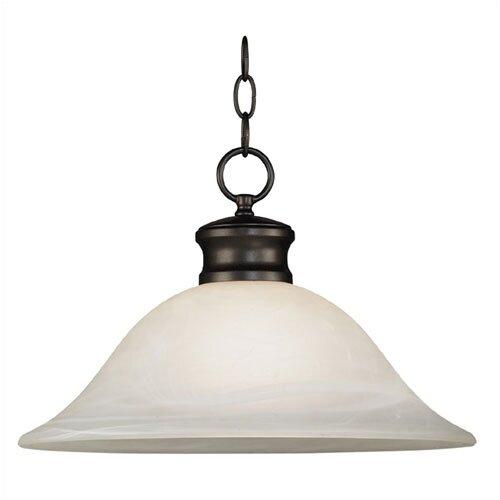 Kenroy Home Wynwood 1 Light Downlight Pendant   91398BBZ/91398BS