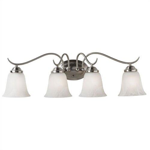 Kenroy Home Medusa 4 Light Vanity Light in Brushed Steel