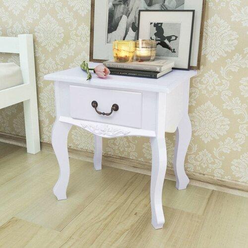 Nachttisch Algrange | Schlafzimmer > Nachttische | Weiß | Lily Manor