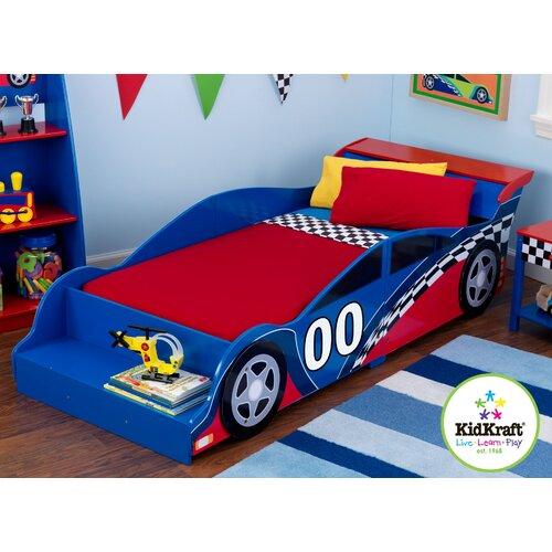 KidKraft Fire Truck Toddler Bed 76021 Set on PopScreen