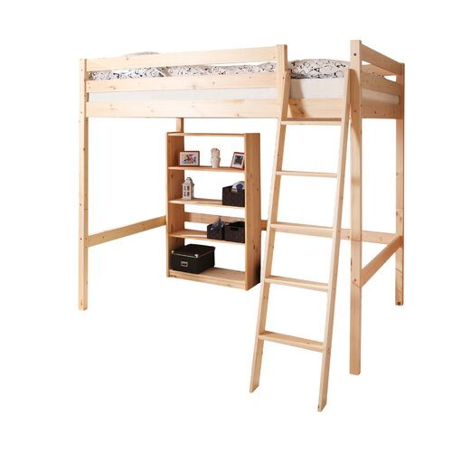 Hochbett Matthias 140 x 200 cm | Kinderzimmer > Kinderbetten | Brownnatural | Massiver - Kiefer - Holz | TICAA