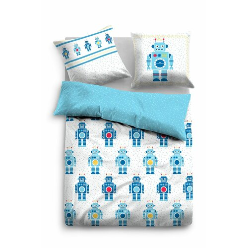 Linon-Kinderbettwäsche | Kinderzimmer > Textilien für Kinder > Kinderbettwäsche | Bluewhite | Baumwolle | Tom Tailor