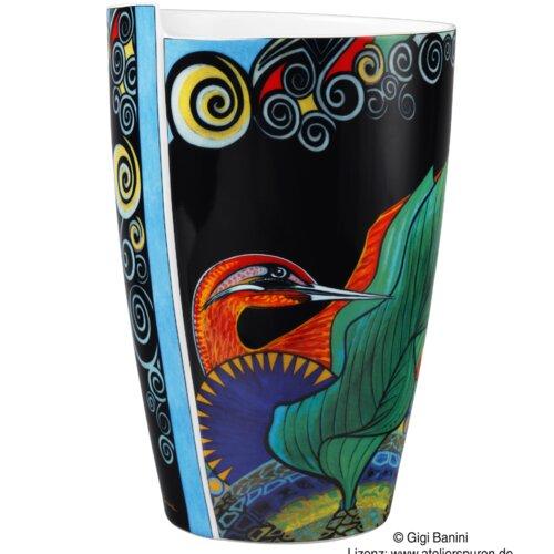 Bodenvase 1968 Kunst Tett | Dekoration > Vasen > Bodenvasen | Black | Königlich Tettau