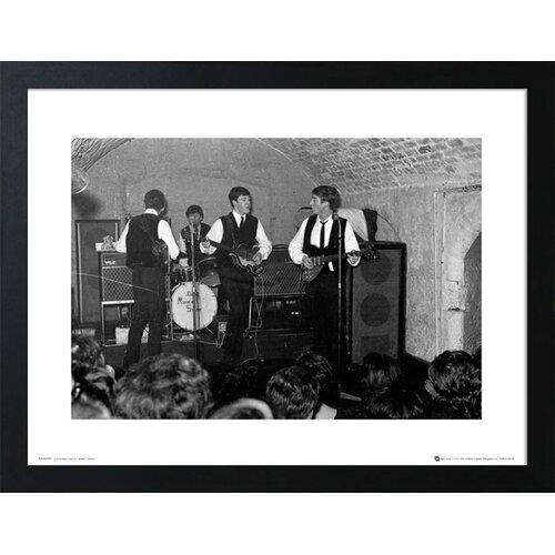 Gerahmtes Poster The Beatles The Cavern 2   Dekoration > Bilder und Rahmen > Poster   Weißschwarz   Home Loft Concept