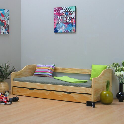 Tagesbett Ahuja   Schlafzimmer > Schlafsofas   Beigenatural   Massivholz   Natur Pur