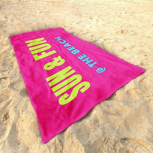 Strandtuch at the beach | Bad > Handtücher > Saunatücher | Bluegreenpink | DeroTextil