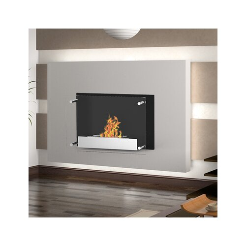Elite Flame Milan Ventless Wall Mount Ethanol Fireplace
