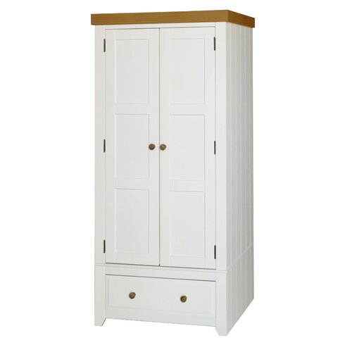Kleiderschrank Alda | Schlafzimmer > Kleiderschränke > Drehtürenschränke | Weiß | Sommerallee