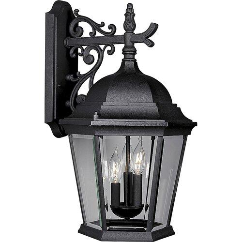 Progress Lighting Welbourne Outdoor Wall Lantern in Black   P5690