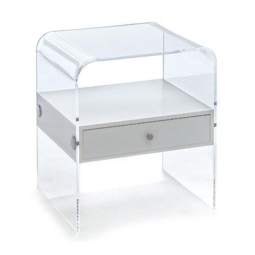 Nachttisch Panolia mit Schublade | Schlafzimmer > Nachttische | Transparent | Tomasucci