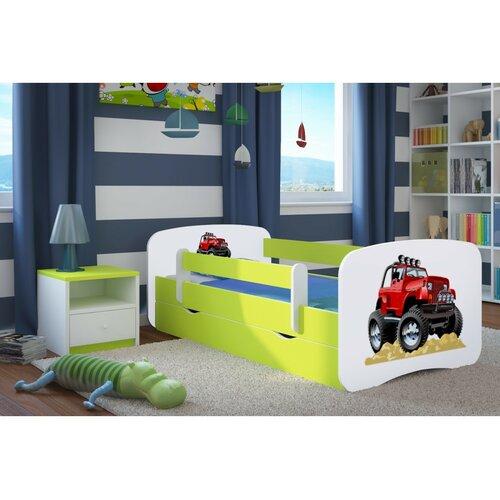 Funktionsbett Celaya mit Matratze und Schublade | Schlafzimmer > Betten > Funktionsbetten | Whitebluegreen | Mdf - Holz | Zoomie Kids