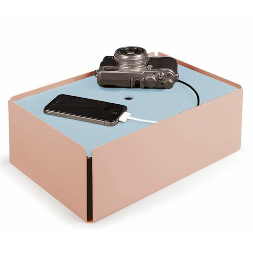 Kabelbox aus Stahlblech / Leder | Baumarkt > Elektroinstallation > Weitere-Kabel | Blueredpinkgrayblackwhitebeige | Pulverbeschichtet - Metall | Konstantin Slawinski