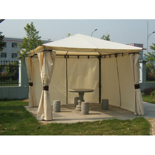 3 m x 3 m Pavillon Oregano aus Polyester | Garten > Pavillons | Stahl - Polyester - Metall | Lynton Garden