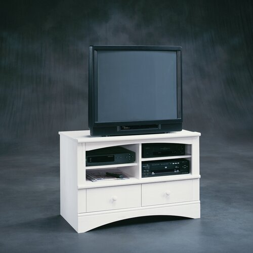 """Sauder Harbor View Universal 41"""" TV Stand In Distressed"""