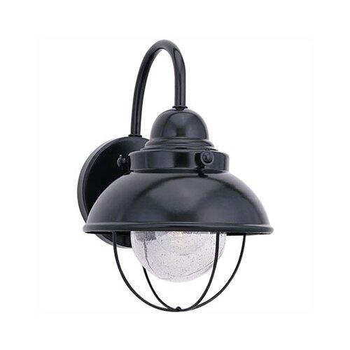 Sea Gull Lighting Sebring Outdoor Wall Lantern in Black