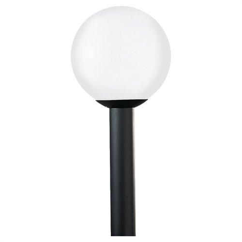 Sea Gull Lighting 15 Outdoor Post Lantern in Black Polycarbonate