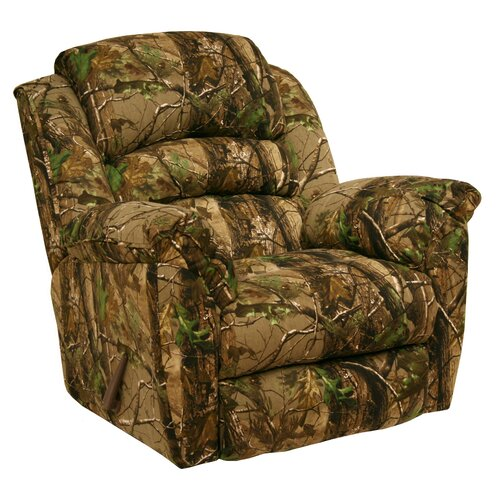 Camo Lounge Chair: Catnapper High Roller Realtree Camo Chaise Rocker Recliner