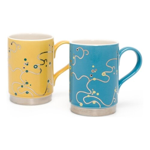 la cafetiere oriental berry mugs in blue and yellow ebay. Black Bedroom Furniture Sets. Home Design Ideas