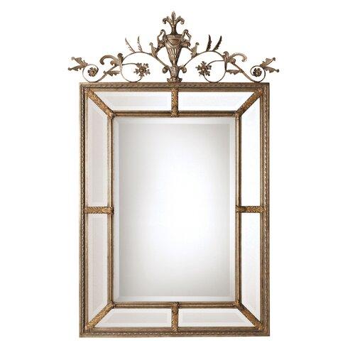 Uttermost Le Vau Rectangular Beveled Mirror in Silver Leaf