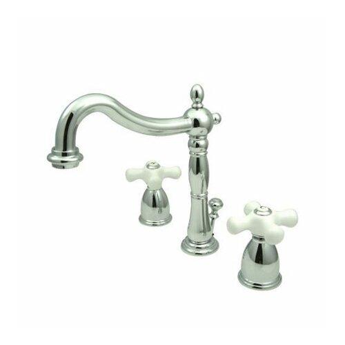 Heritage Widespread Bathroom Faucet With Double Porcelain Cross Handles Ebay