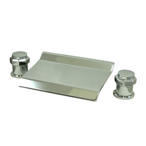 Elements of Design Double Handle Deck Mount 20 Water Fall Roman Tub
