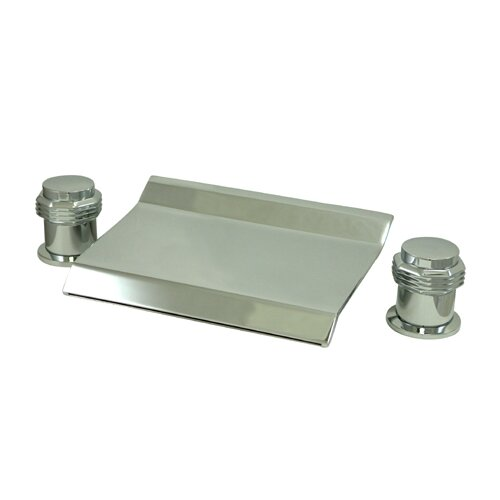 Elements of Design Double Handle Deck Mount Water Fall Roman Tub