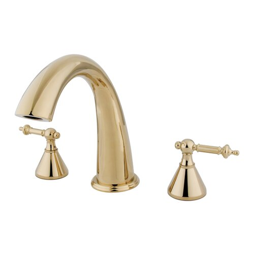 Elements of Design Double Handle Deck Mount Roman Tub Faucet Trim