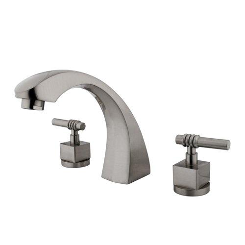 Elements of Design Double Handle Deck Mount Roman Tub Faucet Trim