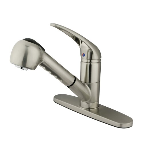 Elements of Design Daytona Single Handle Centerset Kitchen Faucet with