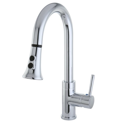 Elements of Design Concord Single Handle Kitchen Faucet with Pull Down Spraye