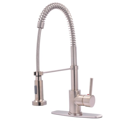 Elements of Design Concord Single Handle Pull Down Lead Free Kitchen Faucet w