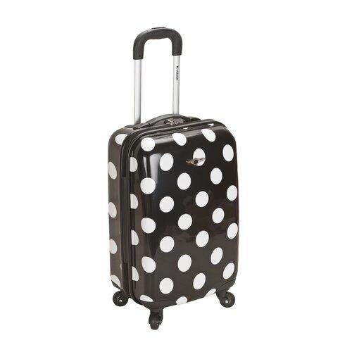 Rockland Laguna Beach 3 Piece Upright Luggage Set   F208 BLACKDOT