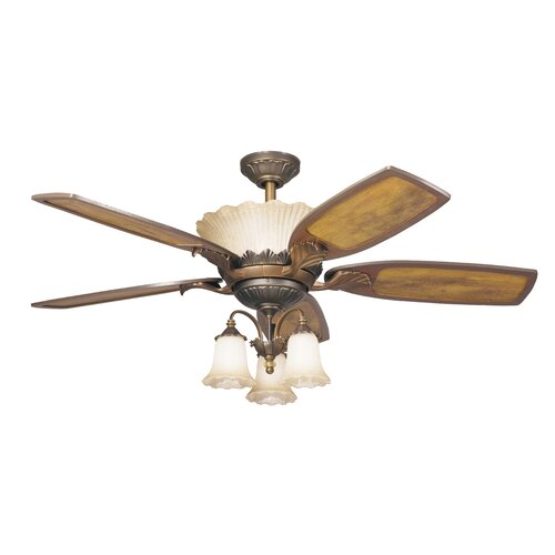 Kichler Golden Iridescence Three Light Ceiling Fan Light Kit (Set of 4