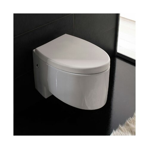 Zefiro Wall Mounted Toilet in White