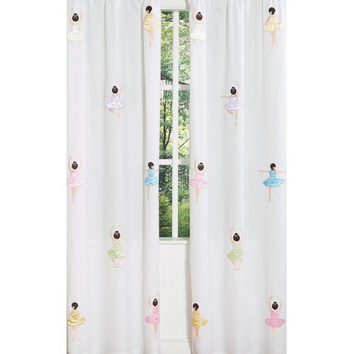 Sweet Jojo Designs Ballerina Window Panels (Set of 2)   Panel