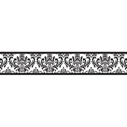 JoJo Designs Isabella Wallpaper Border in Black / White Border