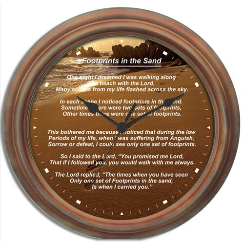 New haven footprints in the sand wall clock