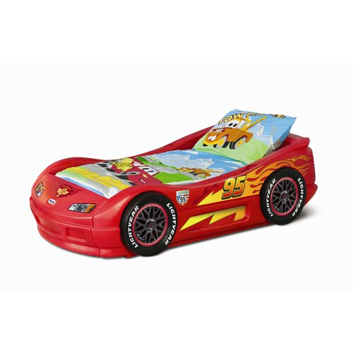 little tikes lightning mcqueen toddler race car bed