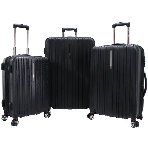 Travelers Choice Tasmania 3 Piece Hardsided Expandable Luggage Set