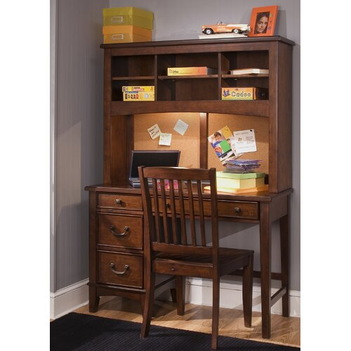 liberty furniture chelsea square bedroom student desk hutch ebay. Black Bedroom Furniture Sets. Home Design Ideas