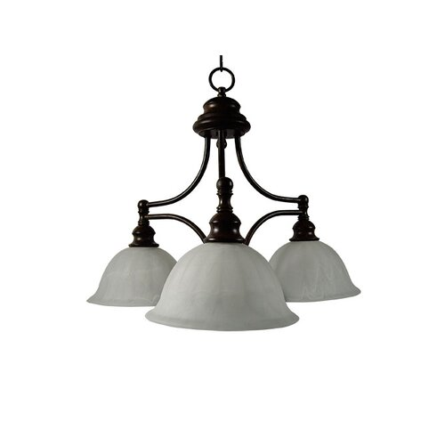 Yosemite Home Decor Broadleaf 3 Light Chandelier
