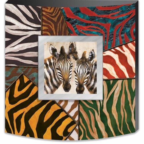 Yosemite Home Decor Zebras in Technicolor Canvas Art