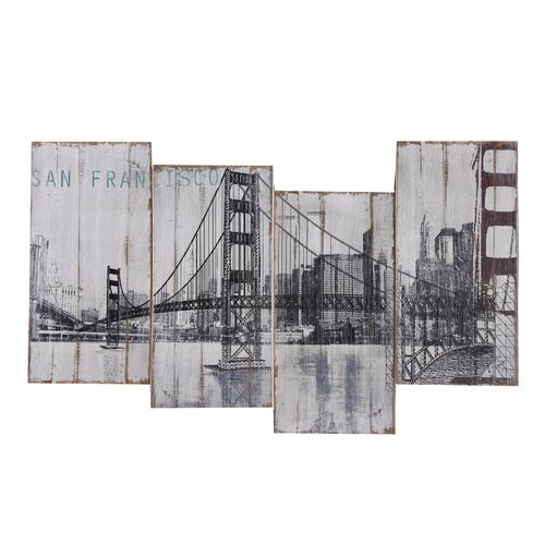 Yosemite Home Decor Golden Gate Bridge Wall Art   39 x 24